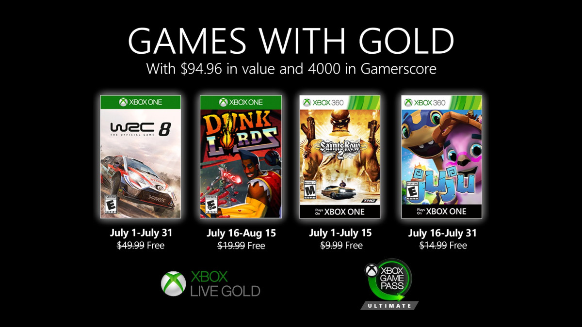 Games with Gold lipiec 2020