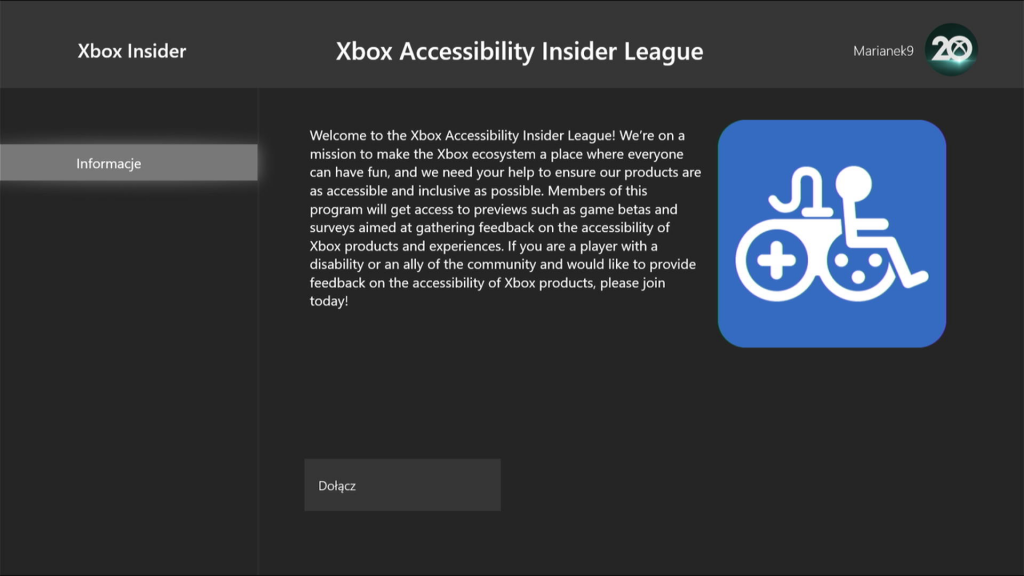 Xbox Accessibility Insiders League HB
