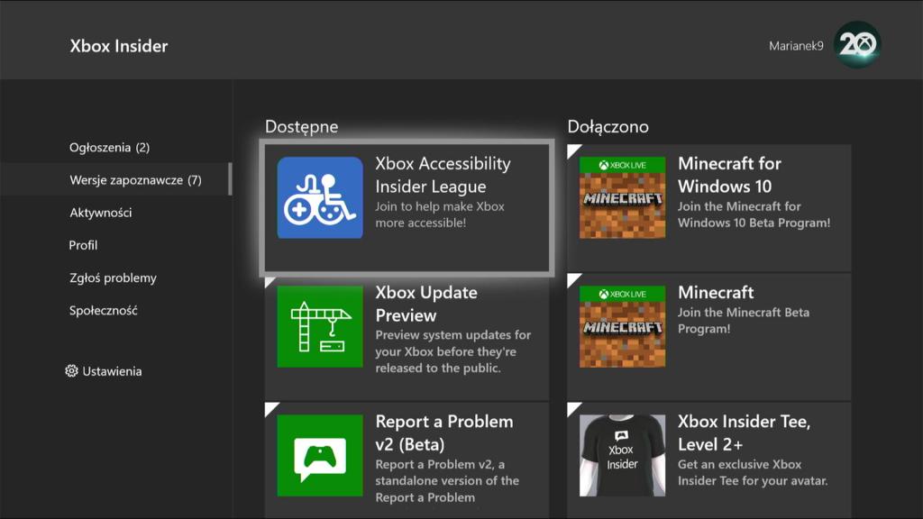 Xbox Accessibility Insiders League Hub