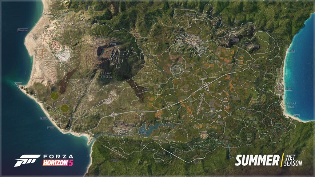 Forza Horizon 5 - mapa gry